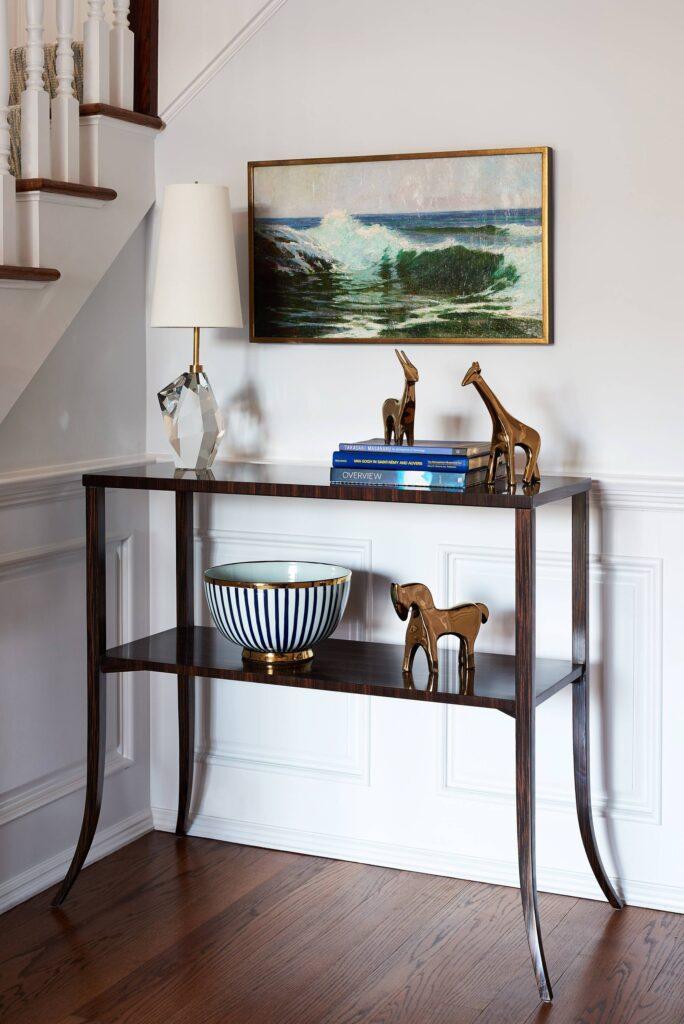 Kathryn Cook Interiors - Foyer vignette Madison, NJ