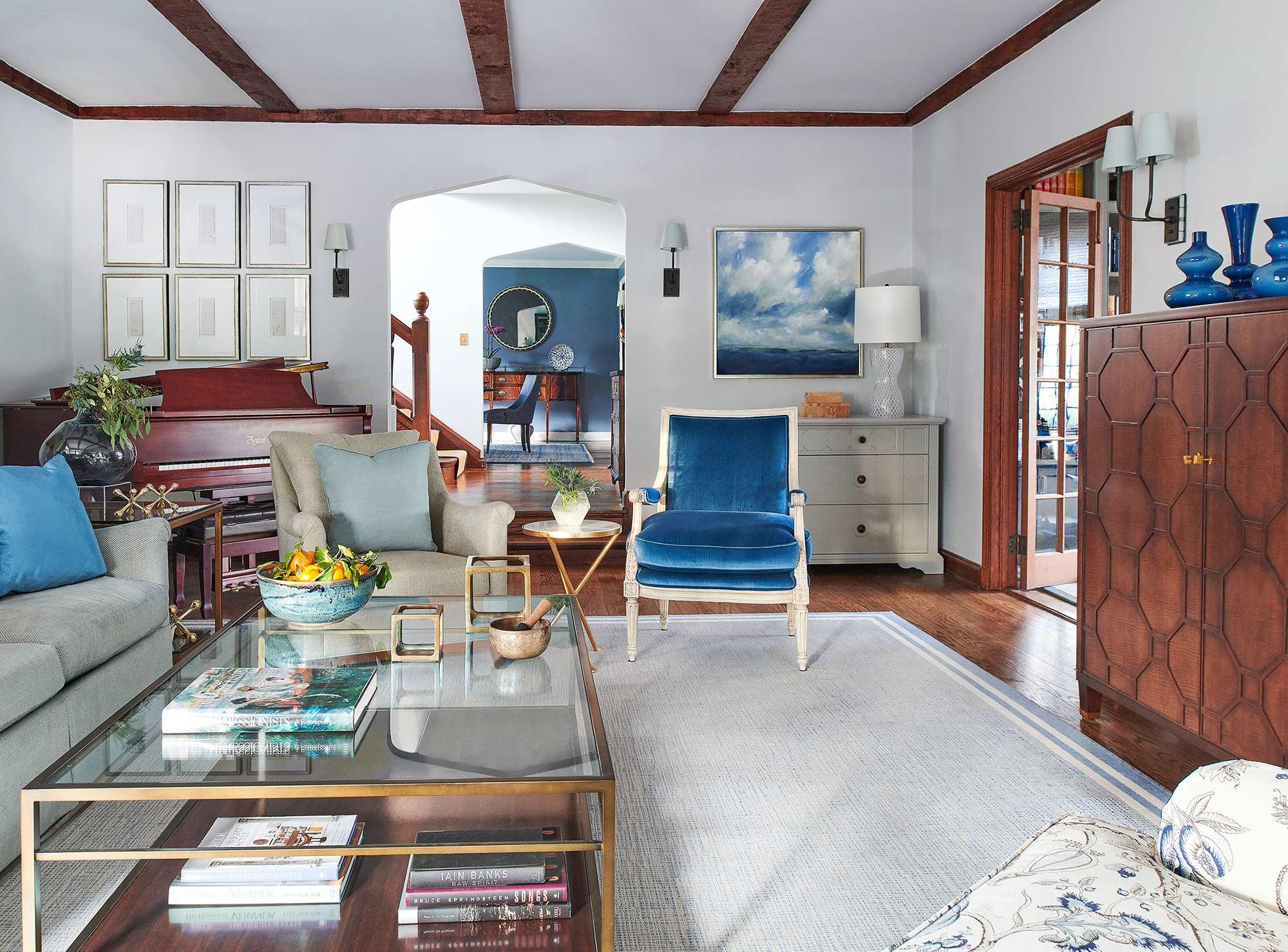 Living Room Verona NJ - Kathryn Cook Interiors