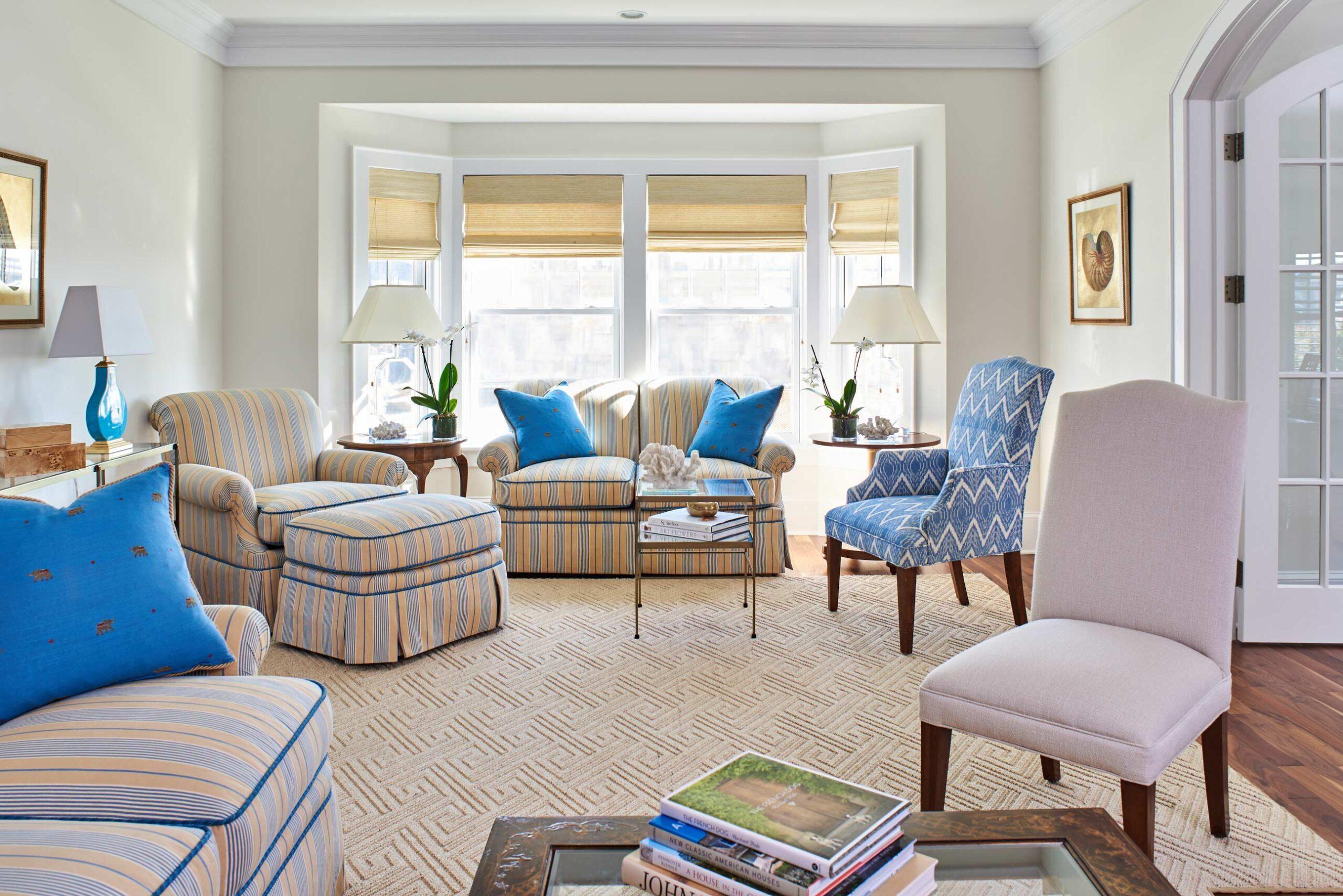 Living room beach house Mantoloking NJ